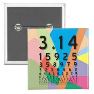 Matemáticas: el constante matemático colorido del pin cuadrado