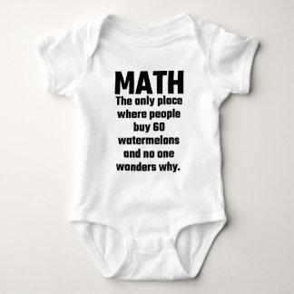 Matemáticas el único lugar en donde la gente body para bebé