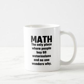 Matemáticas el único lugar en donde la gente taza de café