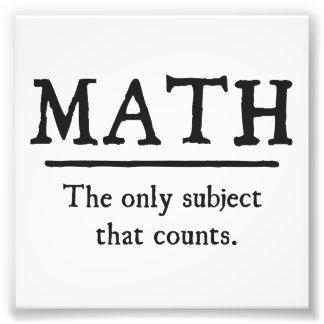 Matemáticas el único tema que cuenta cojinete