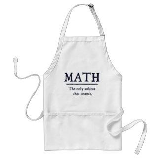 Matemáticas el único tema que cuenta delantal