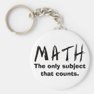 Matemáticas el único tema que cuenta el botón llavero redondo tipo pin