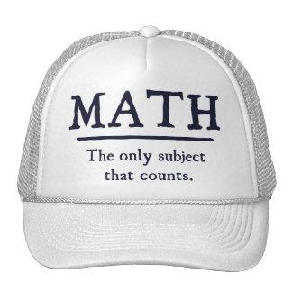Matemáticas el único tema que cuenta gorros bordados