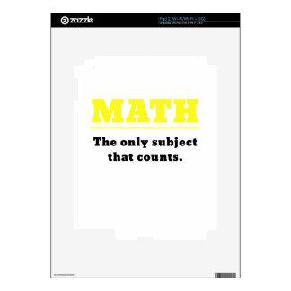 Matemáticas el único tema que cuenta iPad 2 skin