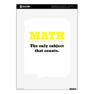 Matemáticas el único tema que cuenta iPad 3 pegatinas skins