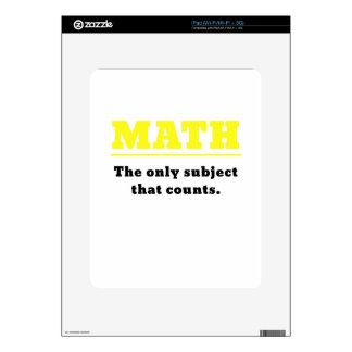 Matemáticas el único tema que cuenta iPad skins
