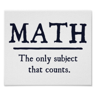 Matemáticas el único tema que cuenta posters