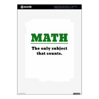 Matemáticas el único tema que cuenta pegatina skin para iPad 3
