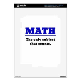 Matemáticas el único tema que cuenta pegatinas skins para iPad 3