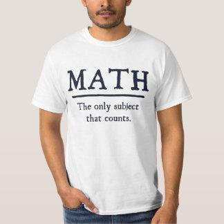 Matemáticas el único tema que cuenta playera