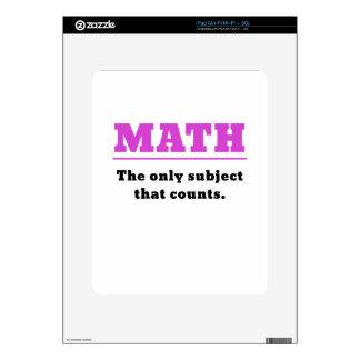 Matemáticas el único tema que cuenta skins para iPad