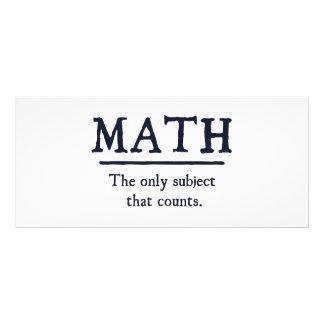 Matemáticas el único tema que cuenta tarjeta publicitaria a todo color