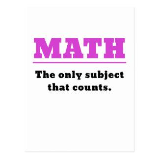 Matemáticas el único tema que cuenta tarjetas postales