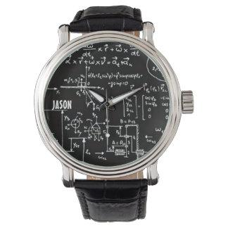 Matemáticas Geeky de la matemáticas personalizadas Relojes De Mano
