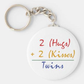 Matemáticas gemela llavero redondo tipo pin
