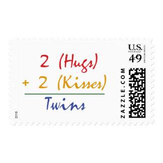 Matemáticas gemela timbres postales