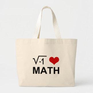 Matemáticas I <3 Bolsa Tela Grande