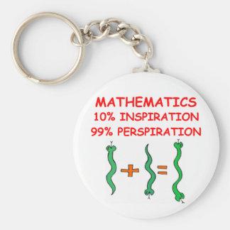 matemáticas llavero