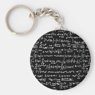 Matemáticas Llavero Redondo Tipo Pin