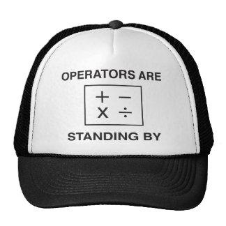 Matemáticas. Los operadores están haciendo una pau Gorra