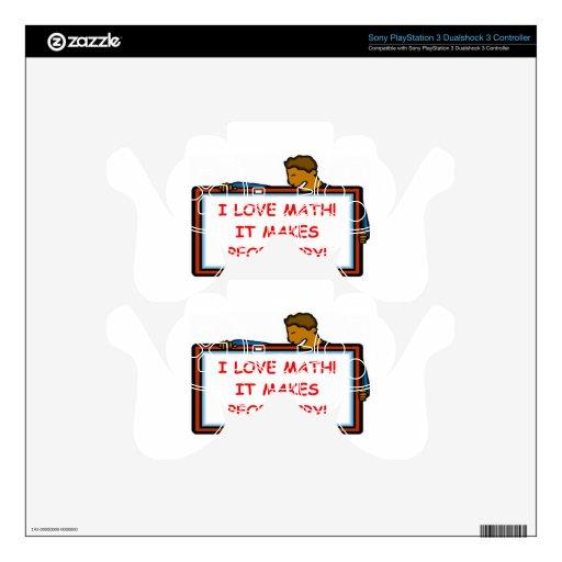 matemáticas mando PS3 skin