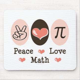 Matemáticas Mousepad del amor de la paz