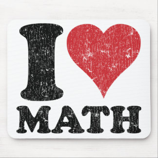 Matemáticas Mousepad del amor del vintage I