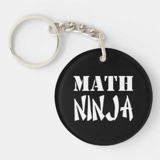 Matemáticas Ninja Llavero Redondo Acrílico A Una Cara