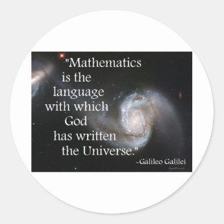 Matemáticas Etiquetas Redondas