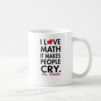 Matemáticas personalizada del amor de I, hace que Taza