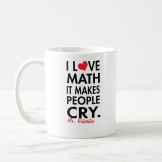 Matemáticas personalizada del amor de I, hace que Taza Clásica