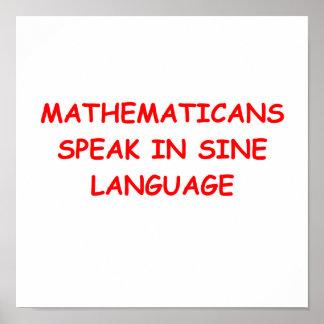 matemáticas póster