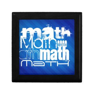 Matemáticas; Rayas azules reales Joyero Cuadrado Pequeño