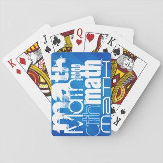 Matemáticas; Rayas azules reales Baraja De Póquer