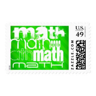 Matemáticas; Rayas verdes de neón Sellos