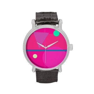 Matemáticas rosada reloj de mano