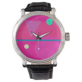 Matemáticas rosada relojes de pulsera