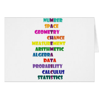 Matemáticas Tarjeta