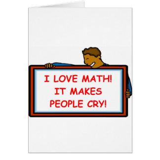 matemáticas tarjeta de felicitación