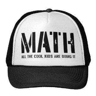 Matemáticas. Todos los niños frescos la están haci Gorros Bordados