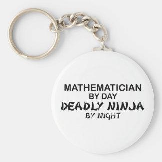 Matemático Ninja mortal por noche Llavero Redondo Tipo Pin