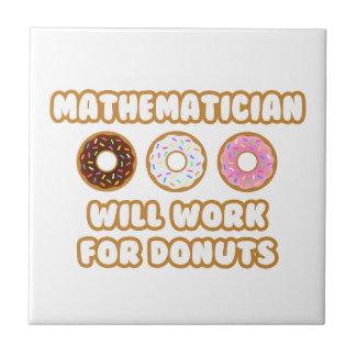 Matemático. Trabajará para los anillos de espuma Azulejo