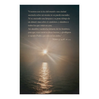 Mateo 5:14-16 poster