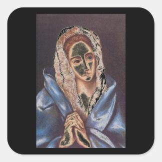 Mater Dolorosa', El Greco_Portraits Square Sticker