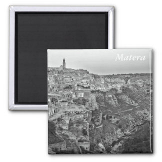 Matera in Basilicata, Italy 2 Inch Square Magnet