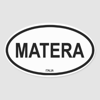 MATERA OVAL STICKER