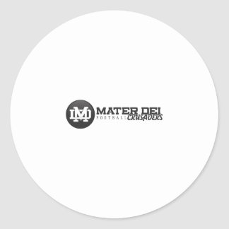 MaterDei Classic Round Sticker