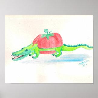 Matergator tomato alligator hybrid series posters