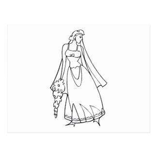 Materia 22 del boda tarjeta postal