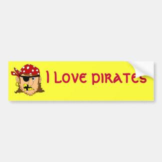 Materia adaptable del pirata del hombre del pirata pegatina para auto
